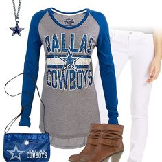 Dallas Cowboys Long Sleeve Tee Outfit Dallas Cowboys Football 495bdadf9