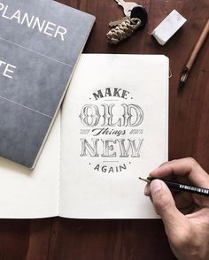 Work by selamat pagi pemanasan dulu sebelum berangkat . Hand Lettering Tutorial, Hand Lettering Quotes, Types Of Lettering, Brush Lettering, Lettering Styles, Cool Typography, Creative Lettering, Typography Letters, Lettering Design