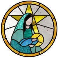 Resultado de imagen de stained glass nativity scene pattern
