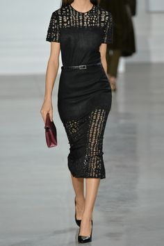Jason Wu-Black felted wool-blend and lace Hook-fastening keyhole at back
