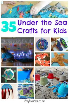 Under the Sea Crafts for Kids - fun ideas for toddlers to school age with sensory play, collages and fine motor skills
