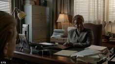'The bad guys lose': The president visits DA TynePatterson's (C.C.H. Pounder) to let her in on the fact his mother slaughtered his wife Tara (Maggie Siff)