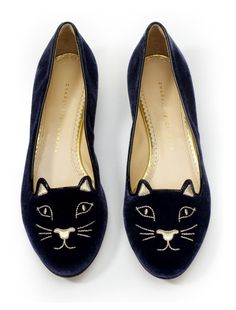 Charlotte Olympia Kitty flats. I love this, and I don't know why! They're so quirky!