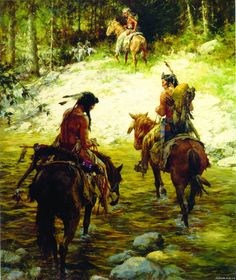 Howard Terpning - Crossing Medicine Lodge Creek - This is one of more than works of art offered by ArtUSA, The World's Source for Collectible Art. Toll-free or Native American Wisdom, Native American Artists, Native American History, Native American Indians, Howard Terpning, Bev Doolittle, American Frontier, American Indian Art, Historical Art