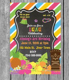 hawaii theme party invites