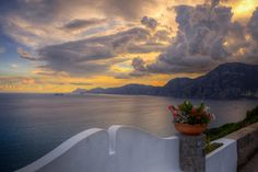 "https://flic.kr/p/Cdsji5 | Europe // Italy // Campania // Amalfi Coast // ""Golden Sky with Dark Clouds"" 