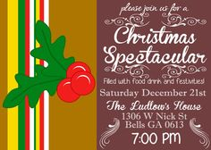 Christmas Specktacular / Holiday Party Invitation Printable DIY