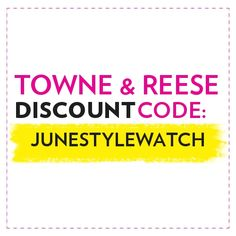 """From May 10 to June 14, enter """"JUNESTYLEWATCH"""" at checkout for a site-wide discount. 20% #StyleHunters"""