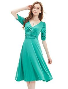 Cocktail Dresses Ever Pretty 2017 Sleeves Hot Selling V Neck Pleated High Stretch Plus Size Short Dresses Women Casual Cocktail Dress, V Neck Cocktail Dress, Womens Cocktail Dresses, Party Dresses For Women, Prom Dresses, Pleated Dresses, Dresses 2016, Plus Size Short Dresses, Dusty Pink Bridesmaid Dresses