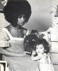 Marsha Hunt with Karis (Mick Jagger's first-born)