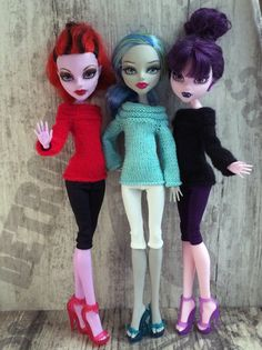 Sale 15% off Monster High doll clothes. Three от OrdaliaHandwork