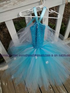 Inspired by Princess Elsa from Frozen tutu dress.  Created by Angie @ Tutus 2 You
