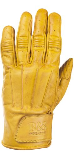 RIDE&SONS Worker Leather Gloves Yellow