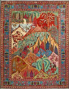 "Tabriz Persian Rug, Buy Handmade Tabriz Persian Rug 9' 10"" x 12' 8"", Authentic Persian Rug"