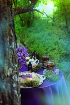 Al fresco tea party Gardening, My Secret Garden, My Tea, High Tea, Outdoor Dining, Outdoor Spaces, The Fresh, Afternoon Tea, Tablescapes