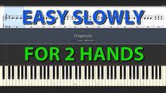 Chopstick EASY longer version tutorial for 2 hands slowly speed + sheet version piano tutorial Piano Tutorials for Everybody Piano Tutorial, Bar Chart, Tutorials, Hands, Easy, Bar Graphs, Wizards