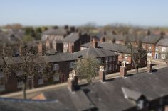 A tilt-shift view of the Fairfield Moravian Settlement in Droylsden, Tameside. The Moravians, a religious order with their roots in Moravia and Bohemia, founded this settlement in 1758. It is now one of the areas best-known landmarks and has been the location for the filming of many television programmes in recent years. Each of the 50 brick-built homes is now a listed building and in its early years it included an inn, shop, bakery, farm and laundry. www.gmp.police.uk