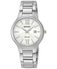 Seiko Women's Solar Stainless Steel Bracelet Watch 29mm SUT207   macys.com