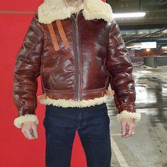 #b3jacket #aeroleather #flyingjacket #aero #aeroleatherclothing #b3 #scotland #shearlingjacket #sheepskin #redsheepskin B3 Bomber Jacket, Bomber Jackets, Shearling Jacket, Leather Jacket, Sheepskin Jacket, Aviator Jackets, Mens Gear, Sexy Men, Scotland