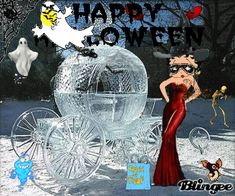 """Betty Boop Halloween   This """"betty boop happy halloween"""" picture was created using the ..."""