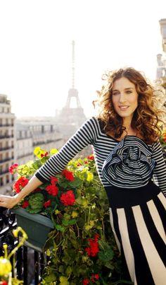 Sarah Jessica Parker in paris, welke vrouw kent deze niet?