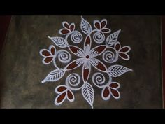 Simple Rangoli Designs Images, Rangoli Designs Flower, Rangoli Kolam Designs, Rangoli Ideas, Rangoli Designs With Dots, Rangoli With Dots, Beautiful Rangoli Designs, Flower Embroidery Designs, Easy Rangoli