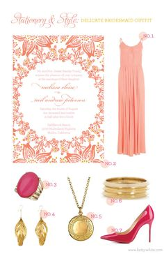 Stationery & Style: Delicate Bridesmaid Outfit