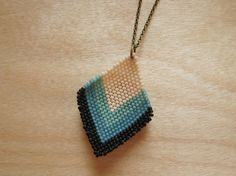 Make This - Beaded Diamond Pendant - Luxe DIY - How Did You Make This?