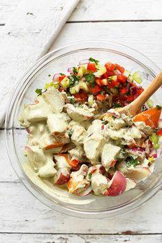 HEARTY, Simple Vegan Potato Salad! 10 ingredients, vegetable-packed, SO delicious! #vegan #plantbased #glutenfree #potatosalad #healthy #recipe