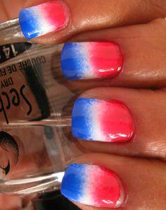 Fourth of July nails Stylish Nails, Trendy Nails, Cute Nails, Flag Nails, Patriotic Nails, Easter Nail Designs, Gel Nail Designs, America Nails, 4th Of July Nails