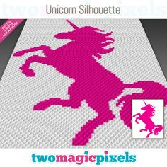 Unicorn Silhouette is a graph pattern that can be used to crochet a blanket using (Corner to Corner), TSS (Tunisian Simple Stitch) and other Crochet Hook Set, C2c Crochet, Crochet For Kids, Graph Crochet, Crochet Afghans, Crochet Cross, Crochet Unicorn Blanket, Crochet Blanket Patterns, Crochet Blankets
