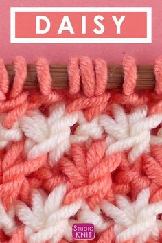 The Daisy Stitch Brioche Knitting Pattern So pretty! This vintage Daisy Stitch Brioche knitting pattern is perfect for spring and summertime. Knitting Stiches, Knitting Videos, Easy Knitting, Knitting For Beginners, Loom Knitting, Knitting Patterns Free, Knitting Projects, Crochet Stitches, Stitch Patterns