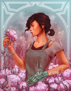 Cinder and peonies by kathryngee lunar chronicles in 2019 лунные хроники, м Lunar Chronicles Cinder, Lunar Chronicles Books, Lunar Chronicles Headcanons, Fanart, Fan Art Wallpaper, Fan Art Percy Jackson, Character Art, Character Design, Fan Art Anime