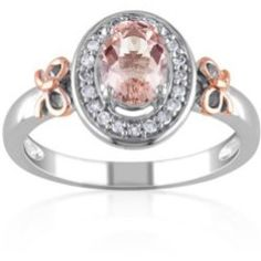 Belk%3Flayer%3D0%26src%3D5400426_7504924008_A_650_T10L00%26layer%3Dcomp%26 Best Deal Belk & Co. Sterling Silver with 14k Rose Gold Morganite and Diamond Ring