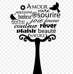 Super joli à faire sur un mur ... Words Quotes, Me Quotes, Sayings, Jolie Phrase, Quote Citation, Graphic Quotes, French Quotes, Silhouette Portrait, Husband Love