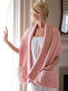 Picture of Caring Crochet. I think making something similar out of fleece would work. I like the pockets!