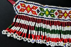 Buy this colorful vintage Kuchi beaded choker necklace and more great tribal jewelry at Tribal Muse. Beaded Jewellery, Beaded Choker Necklace, Seed Bead Necklace, Tribal Necklace, Tribal Jewelry, Crochet Border Patterns, Sewing Patterns Free, Crochet Stitches, Mehndi Design Pictures