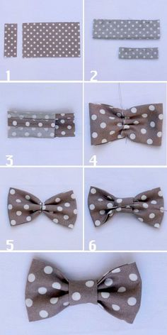 how to sew a fabric bow tie - Diy Sewing Projects Making Hair Bows, Diy Hair Bows, Diy Sewing Projects, Sewing Crafts, Diy Crafts, Sewing Tutorials, Sewing Baby Clothes, Creation Couture, Couture Sewing
