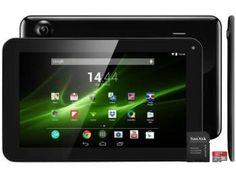 "Tablet Multilaser M9 8GB 9"" Wi-Fi Android 4.4 - Proc. Quad Core Câmera Integrada + Cartão 32GB"