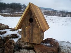 DIY Pallet Birdhouses | Chickadee Birdhouse Built from Pallet by CarpentersCupboard, $30.00