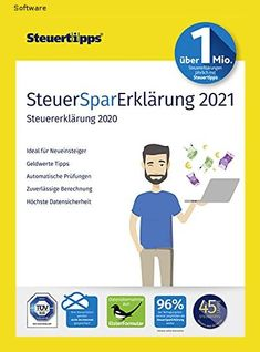 SteuerSparErklärung 2021, Schritt-für-Schritt Steuersoftware für die Steuererklärung 2020 | PC | PC Aktivierungscode per Email - 151a