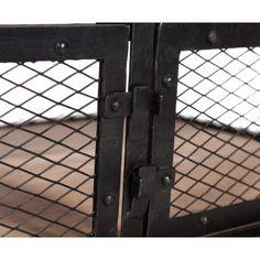 Mesa de centro de hierro y madera con ruedas y cajón. Ideal para desplazarla a lo largo del salón.