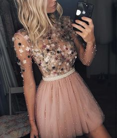 Pink Tulle Lace Fabric Embroidered with Pearls for Evening Gowns, Prom Dresses, Party Dresses, Fabric By The Yard - Homecoming Dresses Sexy Dresses, Cute Dresses, Beautiful Dresses, Fashion Dresses, Prom Dresses, Formal Dresses, Bridesmaid Dresses, Casual Dresses, Wedding Bridesmaids