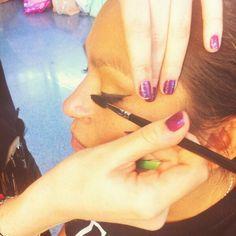 #Maquillaje en Centro Comercial el Saler por las alumnas de #Tevian. #beauty #belleza #makeup