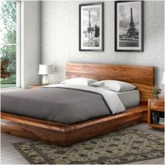 Rest Easy with Solid Wood Beds | Sierra Living Concepts Solid Wood Rustic Platform Bed