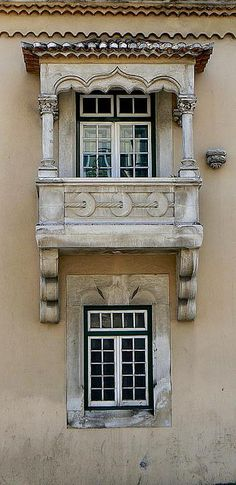 Coimbra, Portugal pierced circle detail on balcony