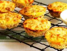 Mini Tuna, Corn & Sweet Potato Frittatas by Taste. Delicious, easy and fun to make, these family-friendly frittatas are a great way to get everyone together in the kitchen. Sweet Potato Frittata, Sweet Potato Slices, Mini Frittata, Baby Food Recipes, Cooking Recipes, Toddler Recipes, Toddler Snacks, Cat Recipes, Muffin Recipes