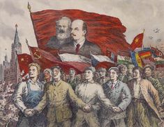 Soviet Ukrainian graphic artist Vasily Kasiyan Soviet Art, Soviet Union, Political Art, Red Army, Communism, Art Pages, World History, Concept Art, Culture