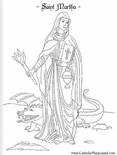 St. Michael coloring page In honor of his feast day