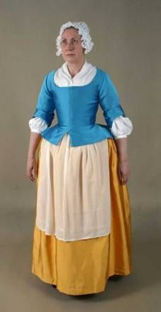And here's a link to how to wear 18th century women's clothes